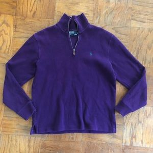 Purple Polo Quarter Zip Pullover